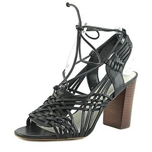 1.State Black Lace-Strappy Dress Sandals NEW